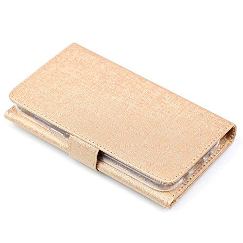 Cross Lines Texture Dreifach Typ PU Leder Brieftasche Case mit freistehenden TPU Back Cover Card Slots für Samsung Galaxy J3 2017 ( Color : Blue ) Gold