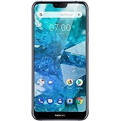 Nokia 7.1 Smartphone Débloqué (Ecran : 5,8 pouces - 32Go ROM - 3Go RAM - Dual SIM ) Bleu [Version Française]
