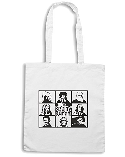 T-Shirtshock - Borsa Shopping FUN0159 06 22 2013 Brainy Bunch Flashback T SHIRT det Bianco