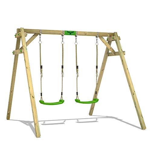FATMOOSE Schaukelgerüst JollyJim Air XXL Doppelschaukel Schaukel aus Holz mit 2 Schaukelsitzen