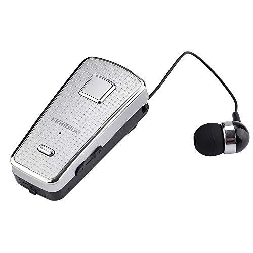 bescita Bluetooth Sport in-Ear Kopfhörer, Fineblue F970 Wireless V4.0 Stereo Magnetischer Sport Ohrhörer Mikrofon für iPhone, Huawei und Samsung (Silber)