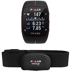Polar M400 HR - Reloj de entrenamiento con GPS integrado y registro de actividad con sensor de frecuencia cardíaca H7, color negro