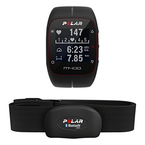 Polar M400 Cardiofrequenzimetro con GPS Integrato + Fascia Cardio Bluetooth Smart per Corsa Outdoor e Indoor, Nero