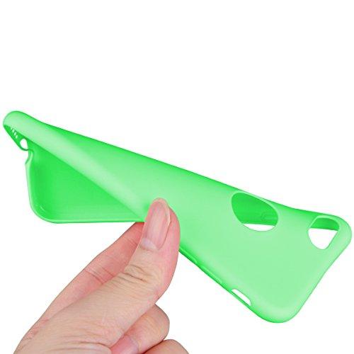 Dexnor Cover per iPhone 7 Custodia Caso, Candy Case Silicone Soft TPU Gel Morbido Sottile Protettiva Flessibile Bumper Back Cover Gomma Ultra Durevole Protezione Posteriore Slim Shell Protector per Ap Verde