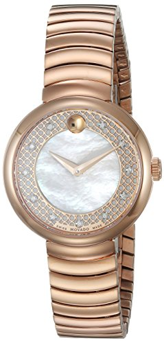 Movado Women's Swiss Quartz and Stainless-Steel Casual Watch, Color:Rose Gold-Toned (Model: 0607046)