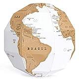 LULUKEKE 3D-Globus-Scratch-Karte, Globus Puzzle DIY montieren vertikale Weltkugel, Scratch-Poster-Kugel ideal für Klassenzimmer, Wohnkultur-Reise-Geschenk