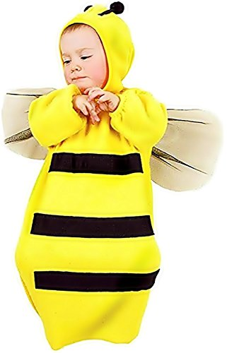 0-9 mesi - Costume - Travestimento - Carnevale - Halloween - Ape Maia Insetto - Colore Giallo - Unisex - Bambini Neonati