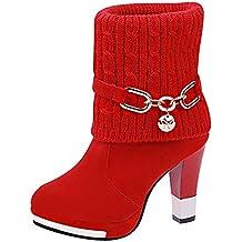 Botas,Botines cuña para Mujer Otoño Invierno 2018 Moda ZARLLE Botines Botas para mujeres Botas de tobillo Botas de tacón de aguja sexy Casual Calzado Dama Botas clásicas Tallas Grandes