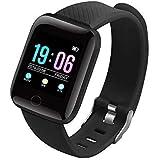 SILVERX M5 Smart Band Waterproof Fitness Tracker Watch - Steps & Calories Tracker, BP, HR OLED Touchscreen for Men & Women Co