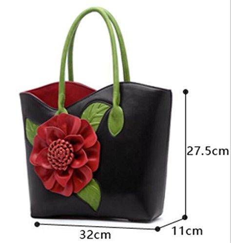 Retro Nationalen Wind Dreidimensionalen Blumen Paket Schulter Weiblichen Großen Tasche Nationalen Wind Messenger Bag Purple