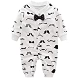 Baby Jungen Strampler Spielanzug Schlafanzug Säugling Baumwolle Overalls Baby-Nachtwäsche, 6-9 Monate