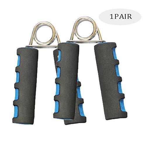 SVNA Ejercitador De Mano Grip Entrenador Manual de Espuma Suave para el Aumento rápido del antebrazo de muñeca y la Fuerza de los Dedos (1 par),Blue