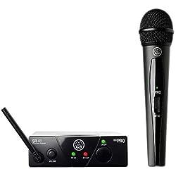 AKG WMS40 - Kit con micrófono, negro