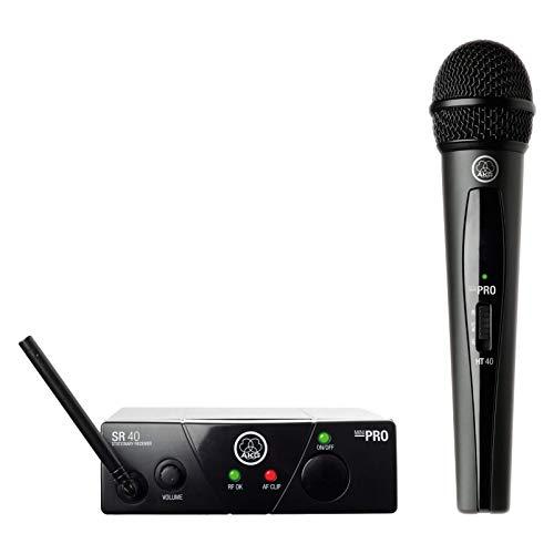 AKG WMS40 MINI VOC ISM1 - Micrófono inalámbrico (vocal, banda UHF),