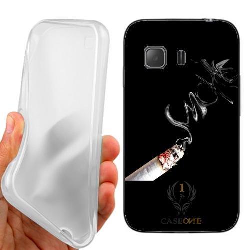 Custodia Cover Case Smoke Sigaretta per Samsung Galaxy Young 2 G130H