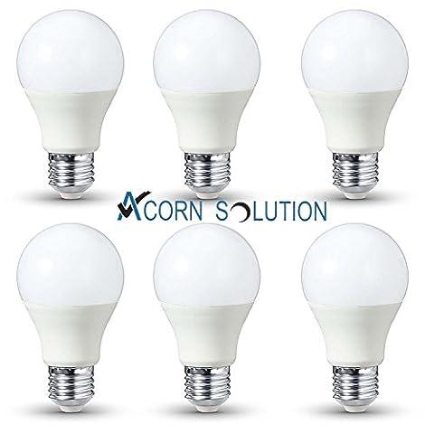 Acorn ampoule LED E27Blanc froid 6000K,–lumière blanc [Classe énergétique A +]