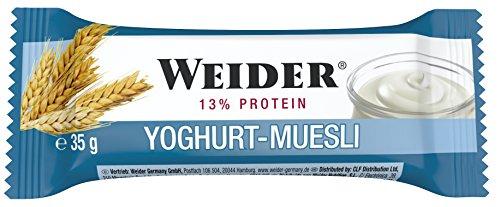 Weider, Body Shaper Bar, Yoghurt-Cereal, 1er Pack (24x 35g Riegel)