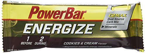 Powerbar Energize  PWBB21477442, Barritas Galletas y crema, 25 x 55 g, 1 Pack (1 x 1,375 kg)