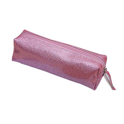 Da.Wa Estuche para Lápices Bolso de Almacenaje Bolso de Maquillaje de Diseño de Rectángulo(Rosa)