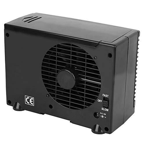 Garsent Auto Mini Klimaanlage, tragbarer 12V Luftkühler mit 2 Geschwindigkeits Eisluft-Verdunstungskonditionierer Einspritzkühler für Heim, Büro, Auto, Outdoor usw.