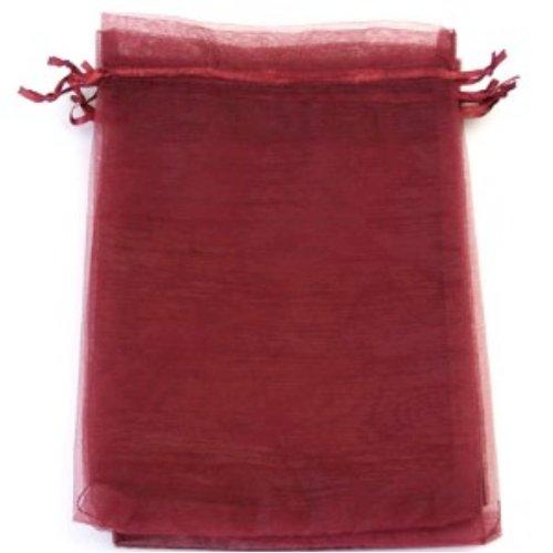 k2-accessories 25pezzi sacchetti regalo in organza/Gioielli Pouch, 13x 18, colore: rosso scuro/Rosso Borgogna