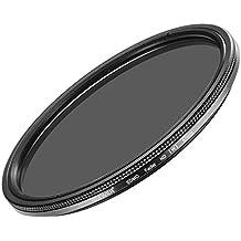 Neewer 67MM Filtro densidad neutra Fader Ultra fino ND2-ND400 de lente ajustable para lente de la cámara con rosca tamaño de 67 MM, hecho de clase óptica