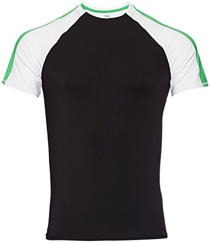 FIND Sport Top Herren Schwarz (Black/White/Apple Green)