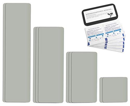 Tape selbstklebendes Planen Reparatur Pflaster Set Easy Patch comfort 100mm Breite - 10 Teile - Hellgrau / Achatgrau RAL 7038