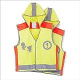 BAYTTER 2er Pack Kinder Sicherheitswesten Reflektierende Warnweste mit Kaputze für Kinder zwischen 5 und 10 Jahren, hohe Sicherheit