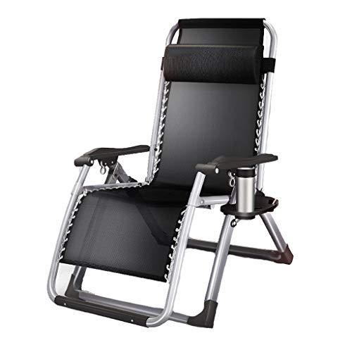Fauteuils inclinables Chaise Longue Lit Pliant Pause-déjeuner Lit Balcon Chaise De Loisirs Chaise Portable Canapé Paresseux Peut S'asseoir Chaise De Jardin Inclinable D'extérieur