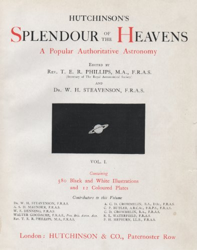 "Image of ""Hutchinson's Splendour of the Heavens"" (Volumes I & II Bound as One)"