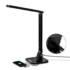INNORI Natural Light Multi-function LED Desk Lamp (4 Lighting Modes- Reading, Studying, Relaxation & Sleeping, 5- Level Brightness Control for each mode) Touch Sensitive Hidden Button USB Charging Port from INNORI