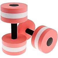 Water Aerobics Dumbbell EVA Foam Aquatic Barbell Fitness Aqua Pool Exercise - Pink/Green - Pink, 145*270mm(D*H)