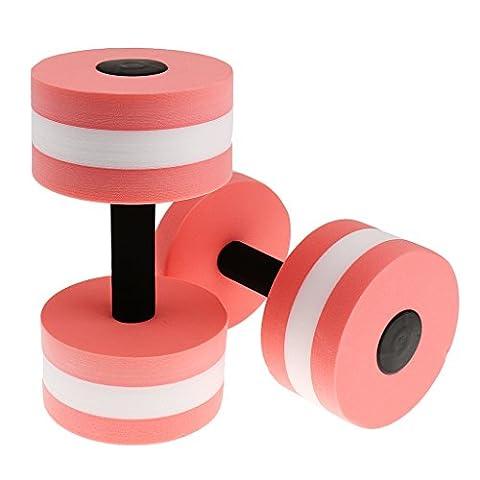 Haltère en Mousse pour Sport dans la Piscine Aquagym Barbell Aquatique Fitness Exercice - Taille unique, Rose