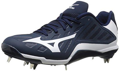 Mizuno Herren Heist IQ Baseball Schuh, Navy/Weiß - Größe: 51 EU -