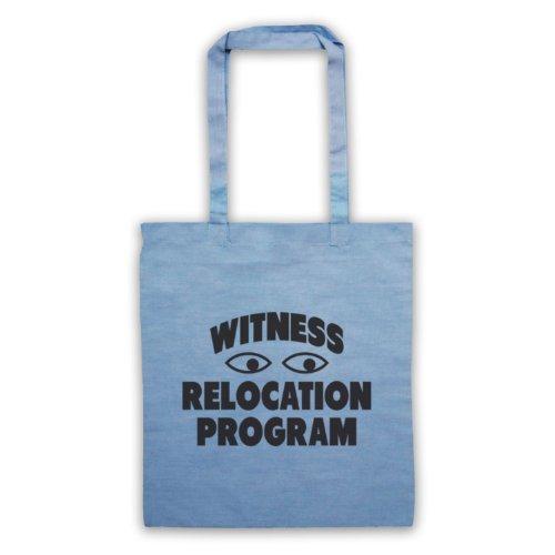 Witness trasferimento programma Funny Slogan Tote Bag Azzurro