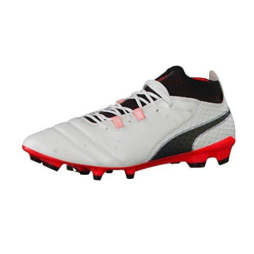 Futebol Sapatos 1 Branco Branco preto Um De Homens Puma impetuosa Fg coral 17 UqXtwg0