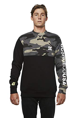 DC Apparel Herren Ken Block Founders Series Clewiston Crew Sweatshirt, Black Kb Dc Camo, X-Groß -