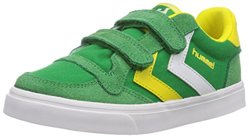 Hummel Hummel Stadil Jr Canvas Lo, Chaussons Sneaker Mixte Enfant Vert (Fern Green 6029)