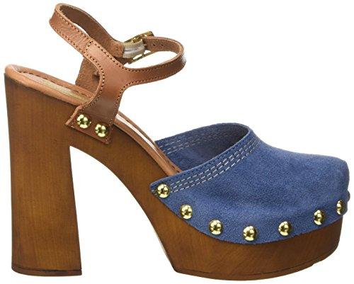 Tosca Blu Zolfo, Mules femme Bleu - Blau (BLU C30)