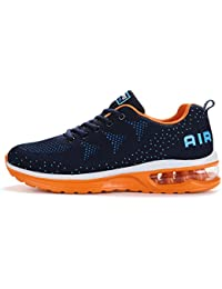 Axcone Homme Femme Air Baskets Chaussures Outdoor Running Gym Fitness Sport Sneakers Style Running Multicolore Respirante- 36EU-46EU