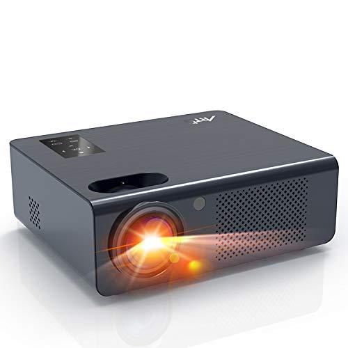 Proyector HD LED, Artlii Energon Proyector Cine en Casa,Zoom, Altavoz Estéreo Dual, Compatible Full HD1080P, USB / HDMI / SD / AV / VGA, para TV Box, Teléfono Inteligente, PC, Ps4