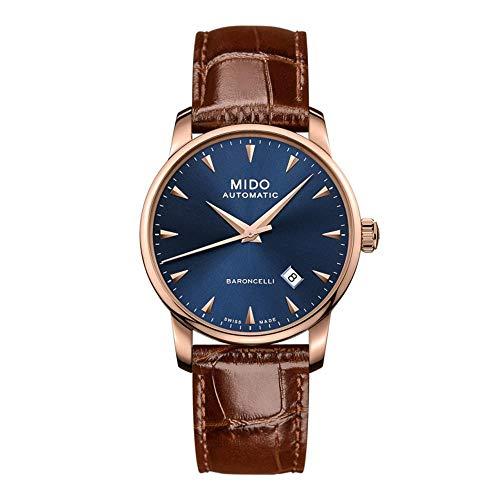 Mido Baroncelli Midnight Herren-Armbanduhr 38mm Leder Automatik M8600.3.15.8 (Uhren Mido Herren Für Von)