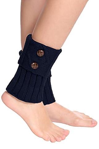 Women Short Knit Crochet Leg Warmer Boot Cuffs Boot Socks