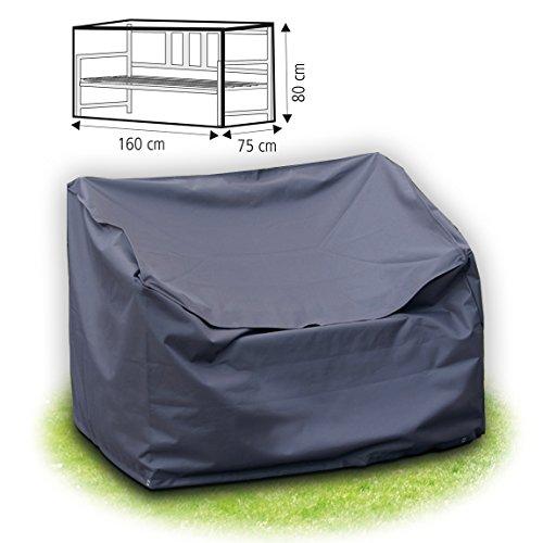 Schutzhülle 160 x 80 x 75 cm grau für Gartenbank abdeckhaube 3-sitzer