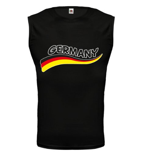 buXsbaum® Tank Top Germany-Wave Black-z-direct