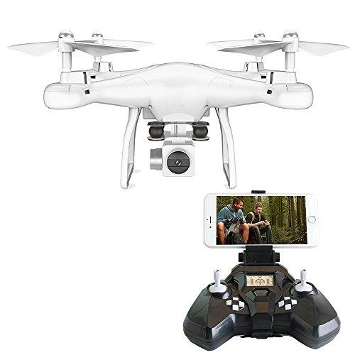 PowerLead Drone FPV VR Wifi RC Quadricottero 2.4 GHz 6 assi Gyro Remote Control Drone con obiettivo grandangolare 2MP Camera Drone
