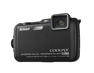 """Nikon Coolpix AW120 Appareil photo numérique compact 16 Mpix Écran LCD 3"""" Zoom optique 5X Noir"""