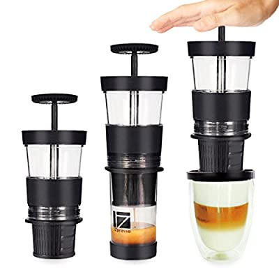 Hand Press Portable Capsule Espresso Mini Coffee Machine by St@llion