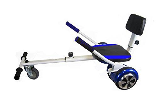 Sumun Sbksfm Asiento Kart Hoverboard, Blanco / Azul, 6.5